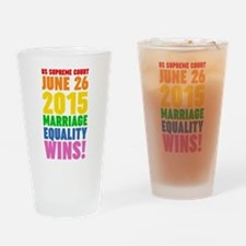 Marriage Equality Wins June 26 2015 Drinking Glass