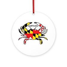 Maryland Crab Ornament (round)