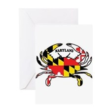 MARYLAND CRAB Greeting Cards
