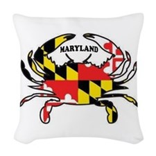 Maryland Crab Woven Throw Pillow