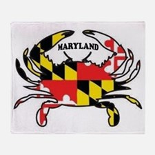 MARYLAND CRAB Throw Blanket