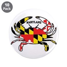 "Maryland Crab 3.5"" Button (10 Pack)"