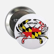 """Maryland Crab 2.25"""" Button (10 Pack)"""
