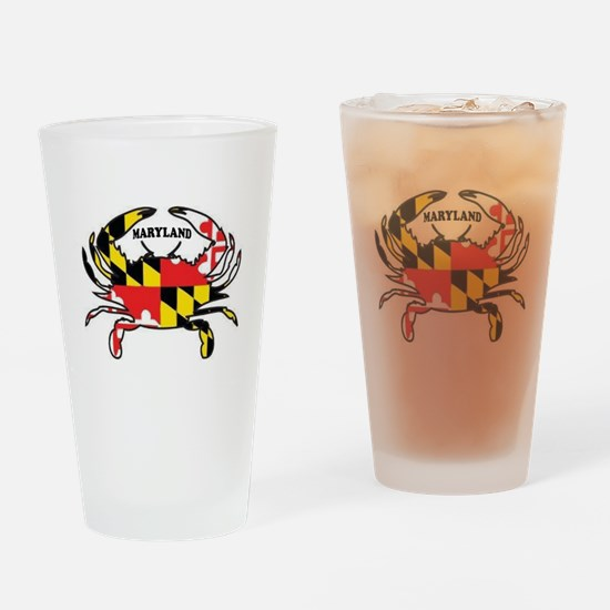 MARYLAND CRAB Drinking Glass