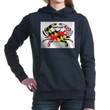MARYLAND CRAB Women's Hooded Sweatshirt