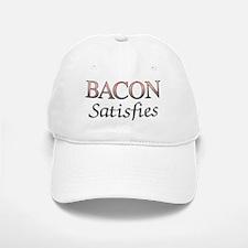 Bacon Satisfies Comic Book Style Baseball Baseball Cap