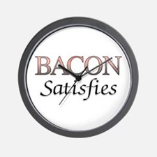 Bacon Satisfies Comic Book Style Wall Clock