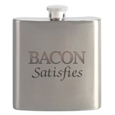 Bacon Satisfies Comic Book Style Flask