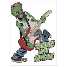 Zombies Love Guitars Poster