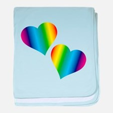 Rainbow Love baby blanket