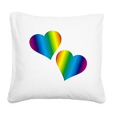 Rainbow Love Square Canvas Pillow