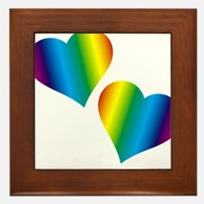 Rainbow Love Framed Tile