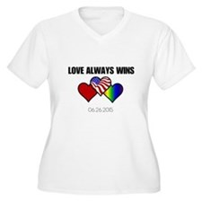 Love Always Wins Plus Size T-Shirt