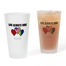Love Always Wins Drinking Glass