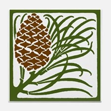 Giant Pine Cone Color Tile Coaster