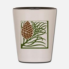 Giant Pine Cone Color Shot Glass
