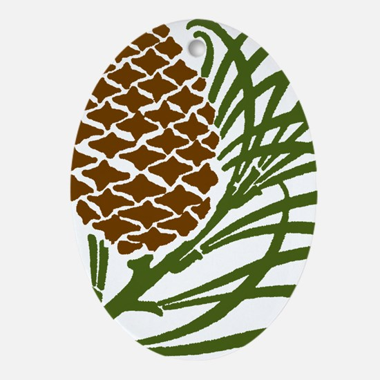 Giant Pine Cone Color Ornament (Oval)