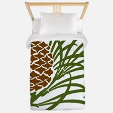Giant Pine Cone Color Twin Duvet