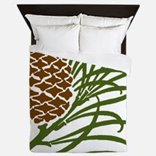 Giant Pine Cone Color Queen Duvet