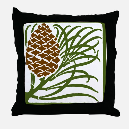 Giant Pine Cone Color Throw Pillow