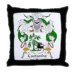 Castanho Family Crest  Throw Pillow