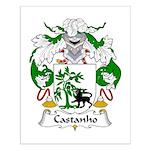 Castanho Family Crest  Small Poster