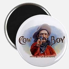 Vintage Cigar Label Art, Cowboy Hits the M Magnets