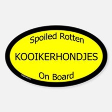 Spoiled Kooikerhondjes On Board Oval Decal