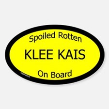 Spoiled Klee Kais On Board Oval Decal