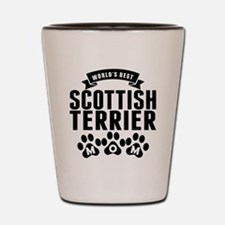 Worlds Best Scottish Terrier Mom Shot Glass