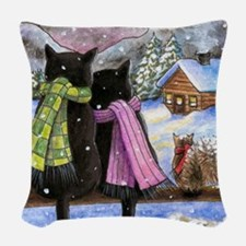 cat 585 Woven Throw Pillow