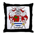 Carvahal Family Crest  Throw Pillow