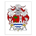 Carvahal Family Crest  Small Poster
