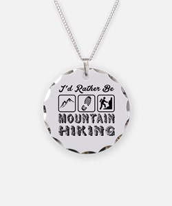 I'd Rather Be Mountain Hikin Necklace