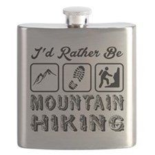 I'd Rather Be Mountain Hiking Flask