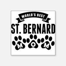 Worlds Best St. Bernard Mom Sticker