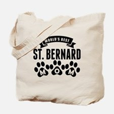 Worlds Best St. Bernard Mom Tote Bag