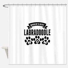 Worlds Best Labradoodle Mom Shower Curtain