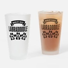 Worlds Best Labradoodle Mom Drinking Glass