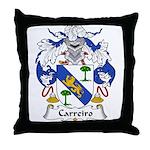 Carreiro Family Crest Throw Pillow