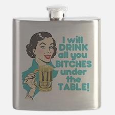 Funny Beer Drinking Humor Flask