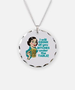 Funny Beer Drinking Humor Necklace