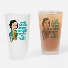 Funny Beer Drinking Humor Drinking Glass