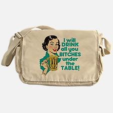 Funny Beer Drinking Humor Messenger Bag