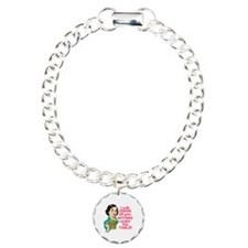Funny Beer Drinking Humo Charm Bracelet, One Charm