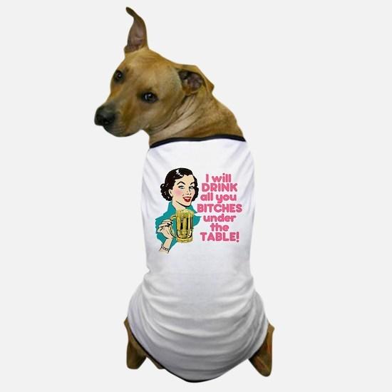 Funny Beer Drinking Humor Dog T-Shirt