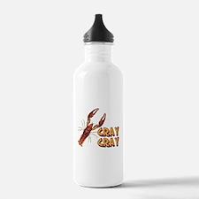 Cray Cray Crazy Crayfi Water Bottle