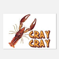 Cray Cray Crazy Crayfish Postcards (Package of 8)