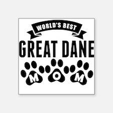 Worlds Best Great Dane Mom Sticker