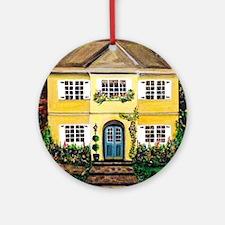 Sarah's Dream House Round Ornament